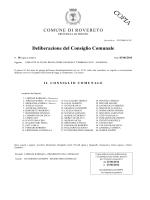 Deliberazione Consiglio comunale 3 giugno 2014 n 18