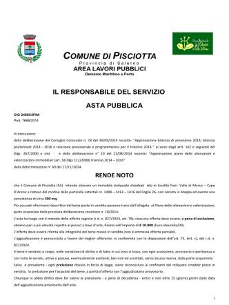 area lavori pubblici - Comune di Pisciotta