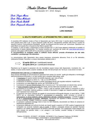 Circolare 13.03.14 - Studio Dottori Commercialisti
