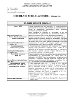 Circolare mensile per le aziende – Febbraio 2014