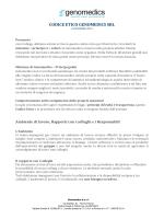 codice etico - Genomedics Srl