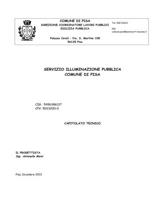 Capitolato Tecnico Illuminazione Pubblica