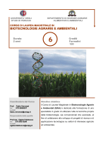 BIOTECNOLOGIE AGRARIE E AMBIENTALI