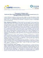 Comunicato 25 febbraio 2014 Novità dal CNR