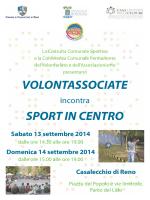 Scarica il volantino di Volontassociate incontra Sport in Centro 2014