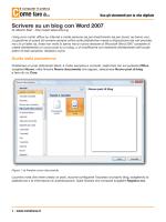 Scivere su un Blog con Word 2007