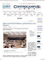 Libera Università di Bolzano: preiscrizioni ai corsi di laurea