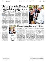 Chi ha paura del Rosario? «Aggrediti se preghiamo»