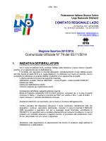 Com. Uff. LND ECC-PRO-JUR 05.11.2014