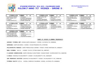 Calendario Pulcini 7c7 Autunnale