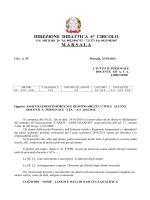 DIREZIONE DIDATTICA 6° CIRCOLO M A R S A L A