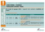 dal 23 giugno 2014 linea roma – cassino variazioni orario tren