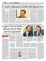 LegaeForzaItalia giàpronteleliste perleregionali
