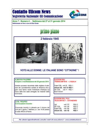 contatto uilcom news 04.14 - Benvenuti nella home page di