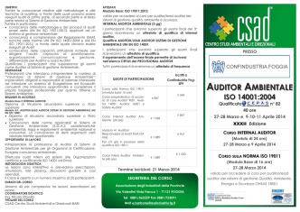 Auditor Ambiente - Associazione degli Industriali di Capitanata