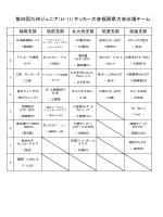 第26回九州ジュニア(U-11)サッカー大会福岡県大会出場チーム