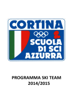 PROGRAMMA SKI TEAM 2014/2015 - Scuola Sci Azzurra Cortina