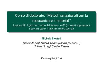 Alcune slides - Università degli Studi di Firenze
