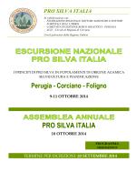 Vedi allegato - Pro Silva Italia