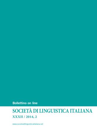 Bollettino XXXII 2014-2
