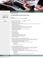 la revisione legale nelle pmi - Ordine dei Dottori Commercialisti e