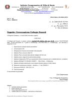 Oggetto: Convocazione Collegio Docenti