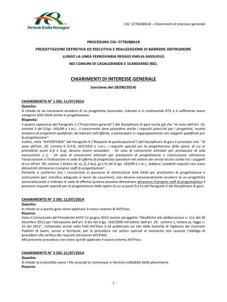 28-08-2014_CHIARIMENTI DI INTERESSE GENERALE cig