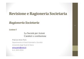 05) SPA - caratteri e costituzione 13