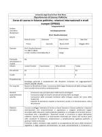 Sociologia generale - Università degli Studi di Bari