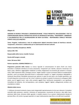 Allegato A1 Programma - Università IUAV di Venezia