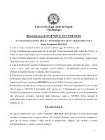 """Bando - Università degli Studi di Napoli """"Parthenope"""""""