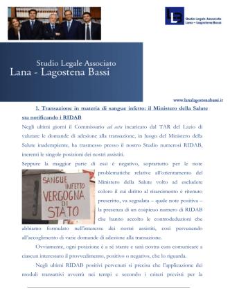 17 ottobre 2014 - Studio Legale Lana Lagostena Bassi