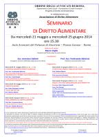 seminario di diritto alimentare - Ordine degli Avvocati di ROMA