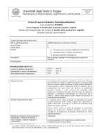 Qualità della produzione vegetale - Università degli Studi di Foggia