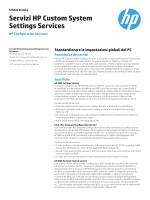 Scheda tecnica dei servizi HP Custom System