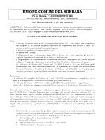 UNIONE COMUNI DEL SORBARA