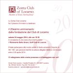 Invito 20 anni Zonta Club Locarno