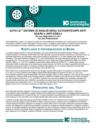AUTO ID SSA-B It - Immuno Concepts