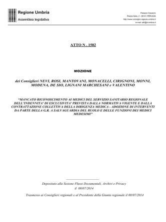 ATTO N. 1582 - Ricerca semplice sugli Atti
