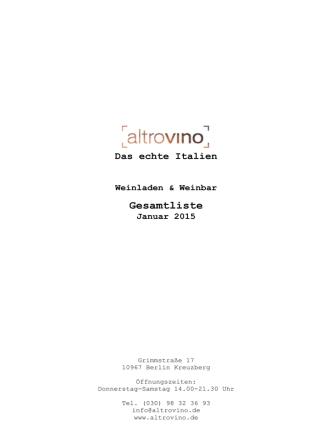 altrovino Gesamtliste (PDF mit Bestellmöglichkeit)