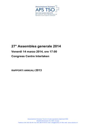 27° Assemblea generale 2014