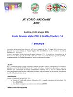 XXI CORSO NAZIONALE AITIC Riccione, 20