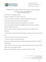 PROGRAMMA DI STATISTICA MEDICA PER IL CORSO DI LAUREA