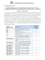 Bando II ciclo TFA - Università degli Studi di Verona