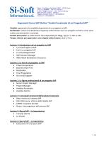 Ti piacerebbe vedere un Progetto SAP? - Si