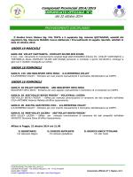 Comunicato N 1 del 22-10-2014