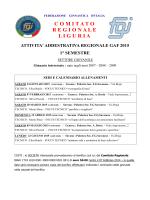 progetto gaf 2015 - Comitato Regionale Liguria F.G.I.