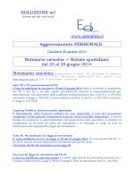 SOLUZIONE srl www.entionline.it Aggiornamento PERSONALE