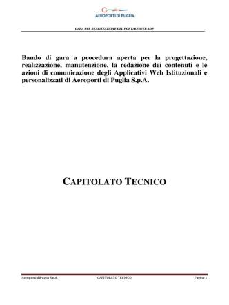 CAPITOLATO TECNICO - Aeroporti di Puglia