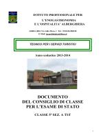 Documento di classe 5A TST